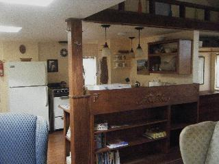 handmade woodwork, plenty of room for your stuff, open floor plan