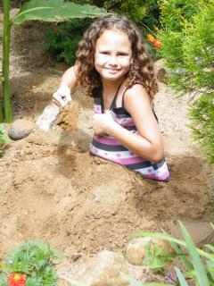 Children's sand pit.