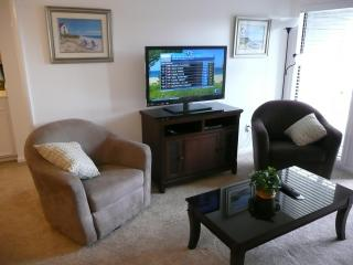 New 3D  TV, furniture, pictures, carpet, all. Also TVs in all 3 bedrooms.