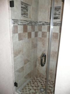 Master Bedroom $1,052 glass shower door