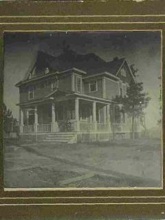 This is the earliest photo of the home, from about 1900, looking southeast to northwest.