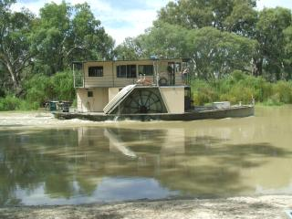 Riverboat passing 'Avoca'
