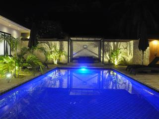Swimming pool with gazebo