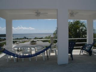 Hammock for reading, napping or star gazing, 3rd floor dining pavilion looking over Esperanza harbor