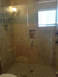 Downstairs bathroom - brand new, rain shower
