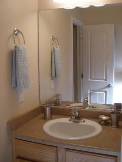 Separate sink area in master bathroom