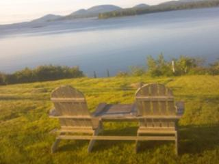 Adirondack chairs overlooking Acadia National Park