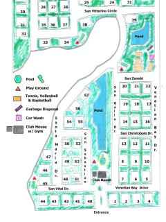 Layout of Venetian Bay Villages