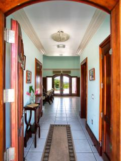 Vista Verde Entrance - Fine Mahogany Throughout