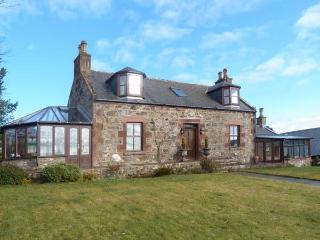 SILVERSTRIPE COTTAGE, detached property, open fire, woodburner, sun room, conservatory, enclosed gardens, near Turriff, Ref 22796