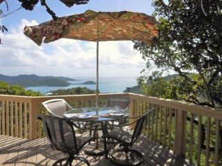 Coral Bay Eco-Retreat beckons you to enjoy the Virgin Islands view from your outdoor dining deck