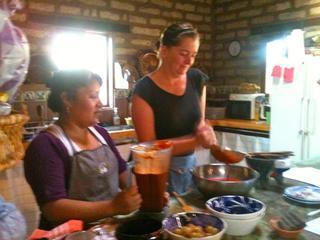 Join an informal Oaxacan cooking class at Rancho Pitaya