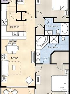 Two-Bedroom Delux Floor Plan