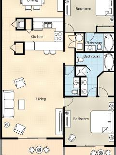 Two-Bedroom Presidential Floor Plan