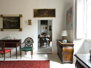 Overlooking Rome's Colosseum, in the Monti Area of Rome, a Splendid Art-filled Apartment, 2 Bedrooms, 2 Baths, offers Rome to the Connoisseur, Roma