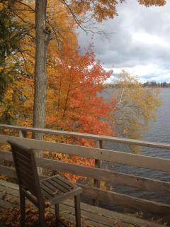 Fall on Gull Lake. Colors are unbelievable-by boat