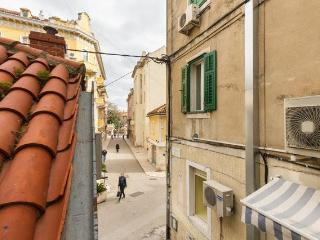 view at narrow street