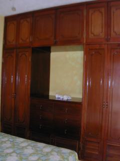 Built-in cabinets in bedroom