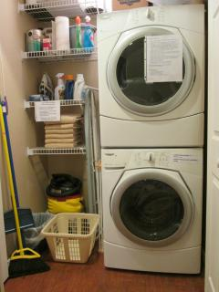 All of our condos have a washer and dryer in the condo