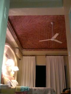hand made ceiling in the master br