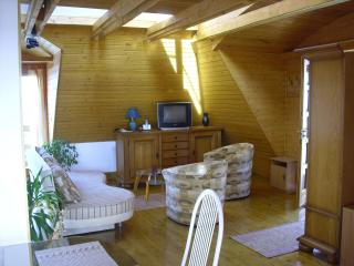 Separate built attic, complete with wood-paneled,