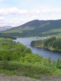 Beautiful Loch Ard, again only a short walk away