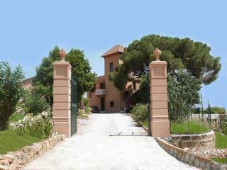 Entrance with the main villa