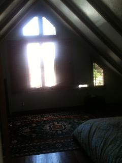 master bedroom cathedral window