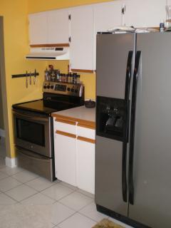 Roomy galley kitchen