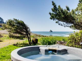Beachfront, pet-friendly cottage with private hot tub!, Cape Meares