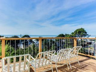 Oceanside home with views from every window, path to beach!, Alvadore