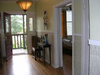 Front door onto porch and patio