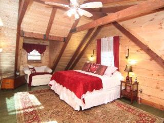Romantic master bedroom with luxury pillow top mattress