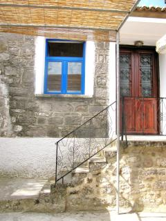 Experience Greek village life in a traditional stone cottage in Vafeios, Lesbos, Greece
