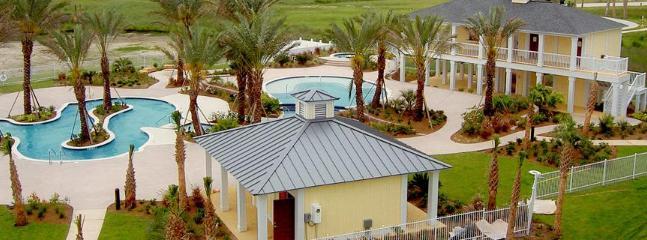 Beach club pool area bayside