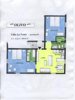 Floor plan of apartment Olivo