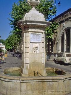 One of many Antibes old town fountains