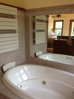 open concept master bath