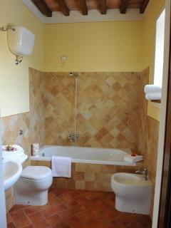 One of the en-suite bathrooms.