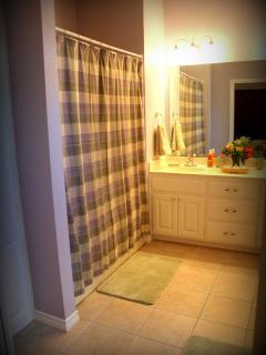 Master Bath. Also features separate walk-in shower.