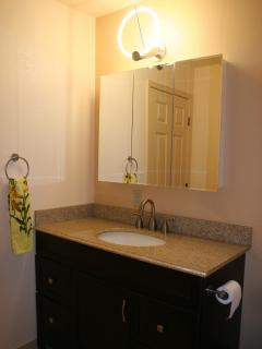 Granite Countertop in Upstairs Bathroom