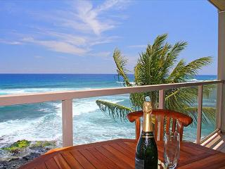 "Sunset & coastline views, snorkel, surf, 2b/2b, oceanfront, Poipu ""Penthouse"""