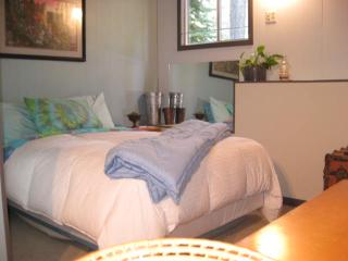 Crawl in and cozy up with piles of down comforters!
