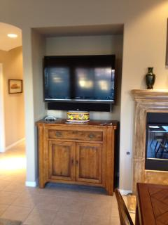 Living Room HD Television with Cable and Audio Entertainment System
