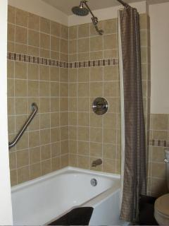 Newly Tiled Tub/Shower Combo