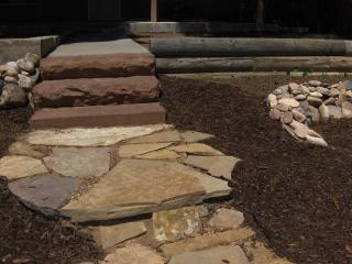 Local Quarried Stone-Craftsman Made-Front Steps & Pathway