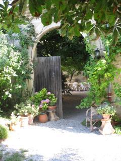 Gate into courtyard