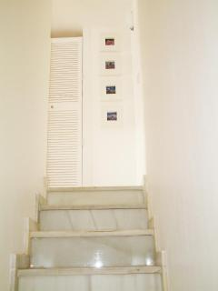 The stairs up from the ground floor
