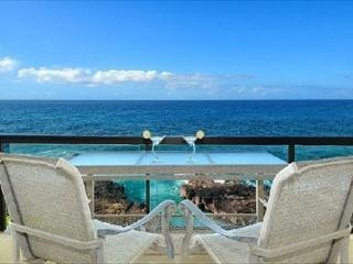 Exhilerating views of crashing waves at oceanfront 2bdr/2ba Poipu Shores306A, Koloa