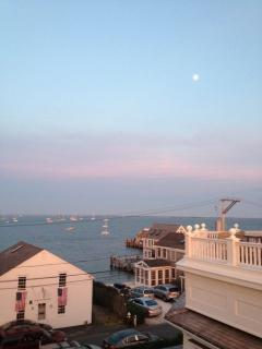 Gorgeous view of Cape Cod Bay, and Commercial St, from the roof deck.